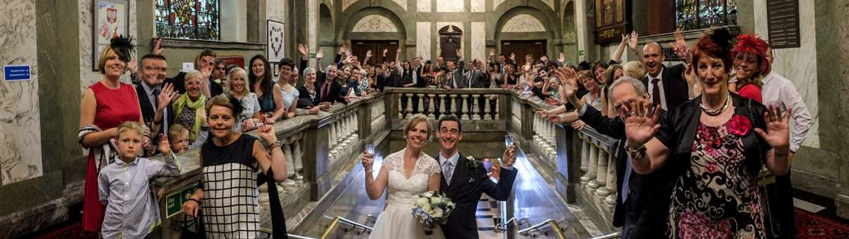 Wedding ceremony at Lancaster Town Hall