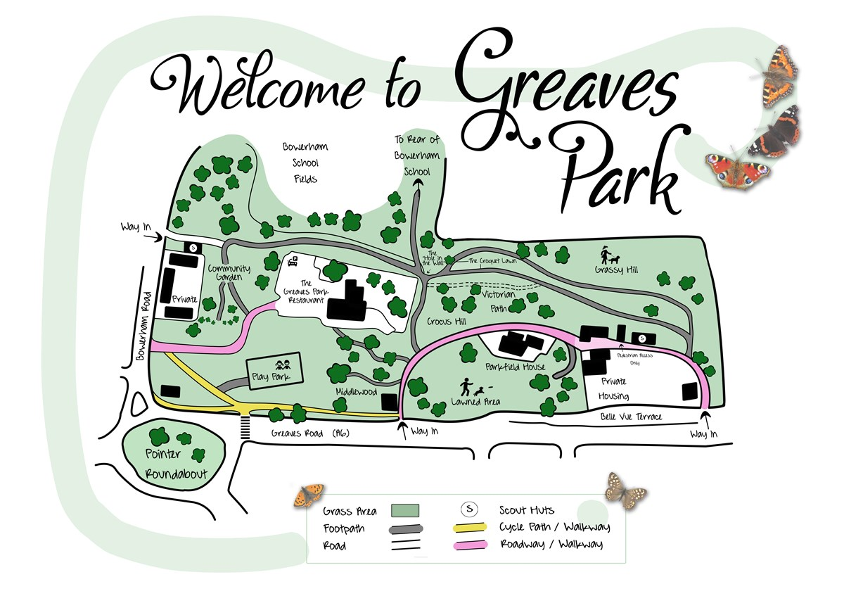 Greaves Park Map