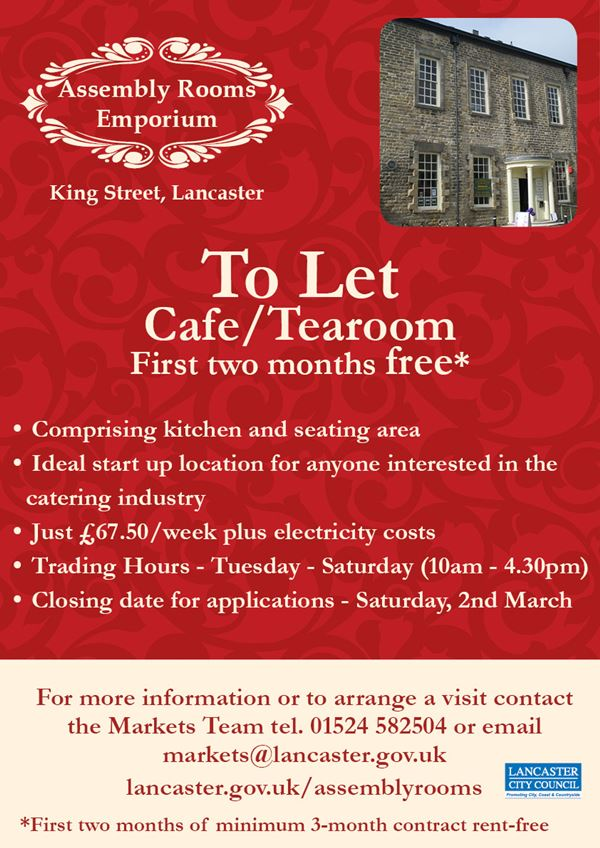 Cafe/tearoom business space available