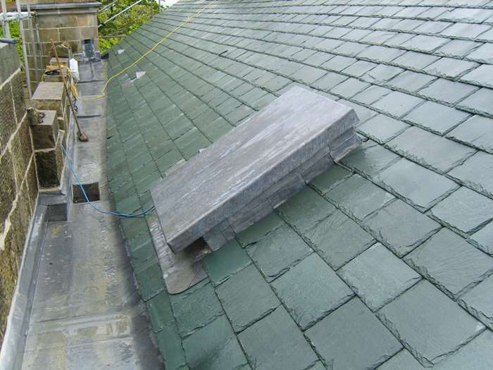 Newly slated roof (Westmorland Green)