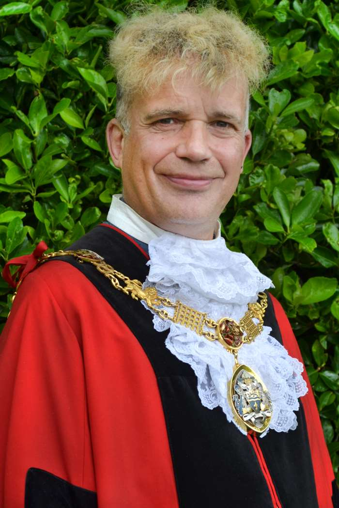 The new Mayor of Lancaster, Councillor David Whitaker