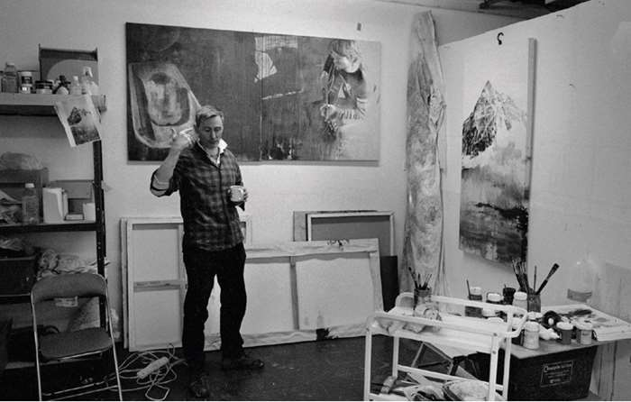 Andy Farr at work in his studio