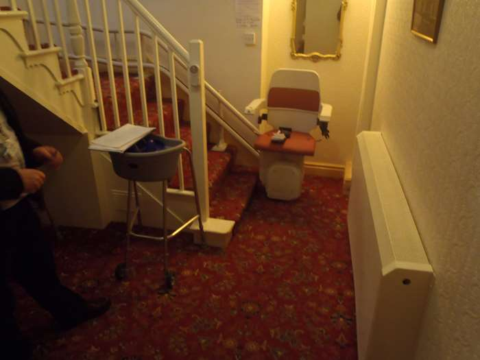Stairlift in local residential care home