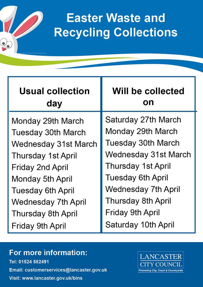 Easter 2021 Waste and Recycling Collections