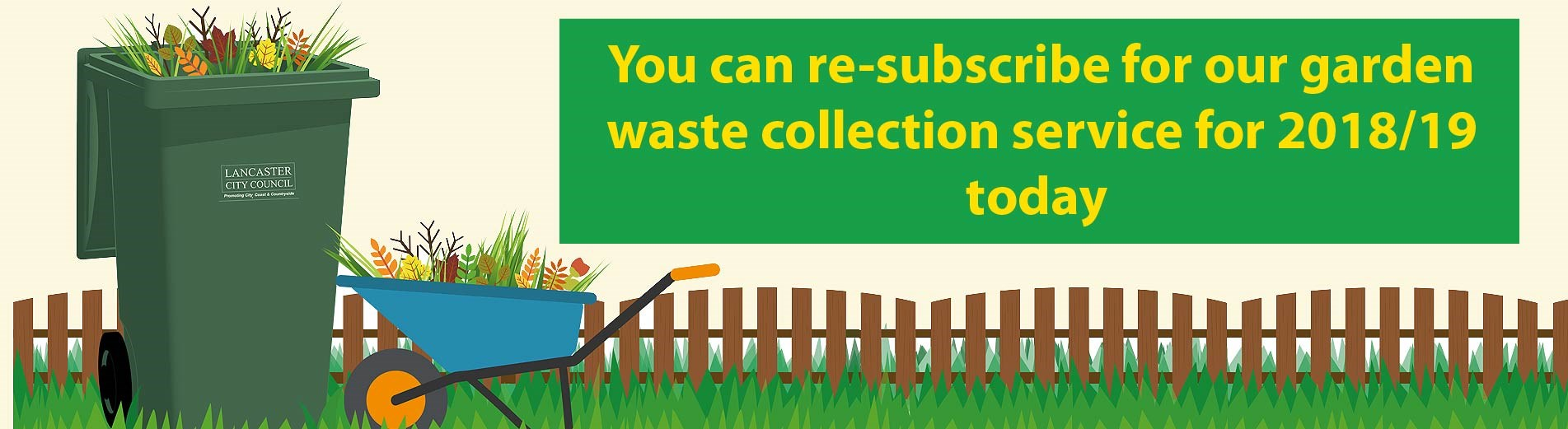 Renew your garden waste subscription for 2018/19