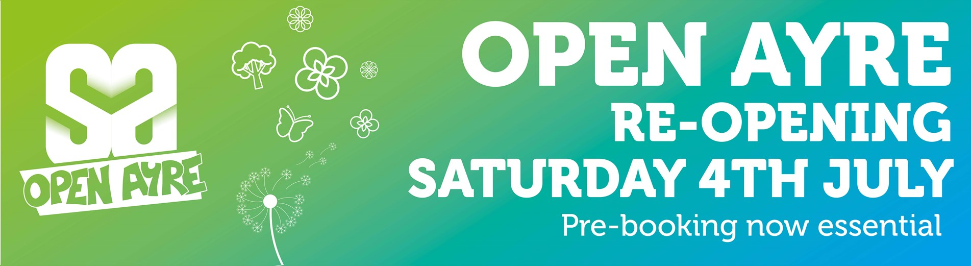 Open Ayre re-opening banner